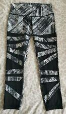 """Lululemon High Times 7/8 25"""" Legging - Heat Wave Black White - 12 UK (8 US)"""