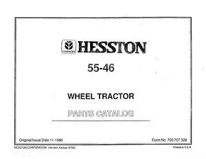 NEW HOLLAND  700707328 55 - 46 Hesston WHEEL LOADER PARTS CATALOG