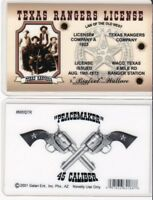 Texas Rangers License  the Old West WACO TEXAS tx Drivers License fake id card