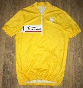 Le Tour De France Descente rare vintage Yellow cycling jersey size XL