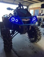 Can Am Outlander Gen 2 Halos rings lights set 4 - BLUE also XMR s Canam