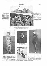 WWI Aviateur Gilbert Avion le Vengeur Lieutenant Nungesser & Chaput ILLUSTRATION