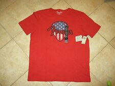 """LUCKY BRAND """"FENDER GUITAR"""" VINTAGE T SHIRT (XXL) NWT $30 RED PICK LOGO COOL"""