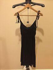 Miss Sixty Sexy Silk Viscose Black Dark Olive Cocktail Dress Size XS Retail $280