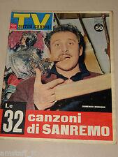 TV SORRISI CANZONI=1962/6=DOMENICO MODUGNO=MILVA=MONICA VITTI=FESTIVAL SANREMO=