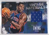 2013-14 Patrick Ewing #/125 Panini Court Kings Vintage Materials NY Knicks