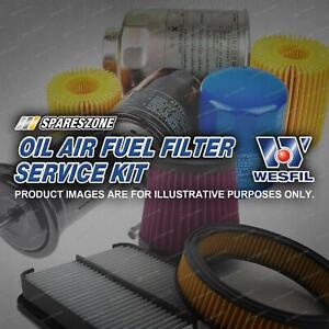 Wesfil Oil Air Fuel Filter Service Kit for Volvo XC90 2.4L D5 06-15 Cartridge