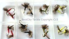 pêche à la mouche comparadun / DUN Sèche Paquet de 16 + OFFERT BOITE #311