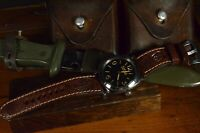 MA WATCH STRAP 26 24 22 MM HANDMADE AMMO STYLE VINTAGE LEATHER FITS PANERAI ETC