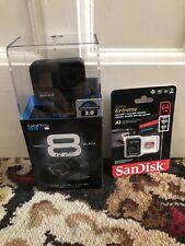 GoPro Hero 8 Black 4k60 Ultra HD Black Action Kamera mit 64gb Karte NEU