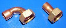 Raccord cuivre à souder droit visser femelle  20/27 Ø22 à droite sur la photo
