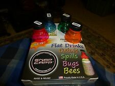 Original Snap Capp Caps Can Covers 4 Assorted Colors Soda Beer Can Topper's USA