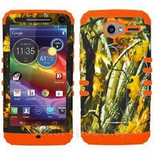 Oak Branch Camo w/ Orange Impact Phone Cover Case for Motorola Electrify M XT901