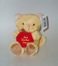 RUSS Berrie Cat Soft Plush Toy/Teacher's Pet Gift - Best Teacher Ever! Small