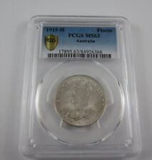 1915H Australia Florin in PCGS MS63 - Choice uncirculated - rare date this cond!