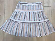 Ben Sherman Skirt Striped Knee Length 100% Cotton Size Small S