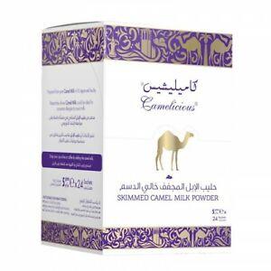 Camelicious skimmed powder camel milk natural, 24 sachets original Dubai HALAL