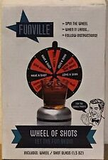 """7"""" Funville Wheel O' Shots Party Games Set with 1.5 oz Shot Glass Brand New"""