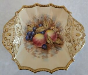 """AYNSLEY  """"ORCHARD GOLD"""" GILDED DISH 1940/50S"""