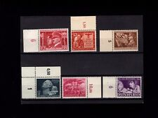 Germany Third Reich Nazi Mini Collection MNH Stamps With Number Tabs 1941-1945 P