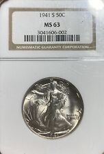 1941-S NGC MS63 Walking Liberty Half Dollar