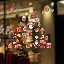 1 Piece Merry Christmas Decor Wall Window Stickers Home and Store Decoration