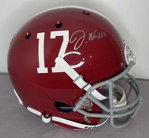 Jaylen Waddle SIGNED Alabama Crimson Tide Full Size Helmet w/ Fanatics COA Holo