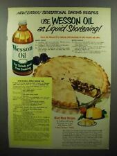 1951 Wesson Oil Ad - Use As Liquid Shortening