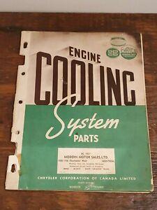 1945 Manual 07/15/45 Catalog Chryco Engine Cooling System Parts Chrysler Mopar *