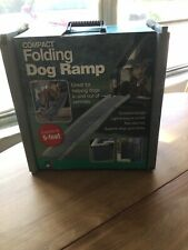 """Folding Dog Pet Ramp Car Truck Suv StairSteps Travel Ladder 60"""" Up To 90 Lbs"""