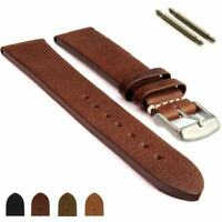 Men's Two-piece Genuine Leather Watch Strap Band SS. Buckle 18 20 22 Prague MM