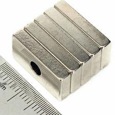 Forte 6x Bloc 20 x 10 x 3 avec 4 mm trou Neodymium Neo Bar Aimants de qualité N35
