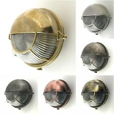 Solid Brass Bulkhead Wall Outdoor Indoor Light Industrial Style ALKISTIS