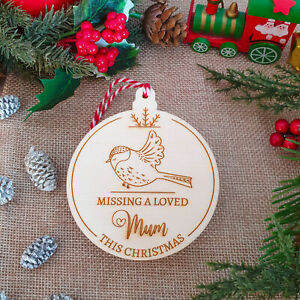 Memorial Christmas Bauble Remembrance Tree Ornament with a Robin Keepsake
