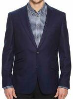Robert Graham Halden Men's Wool Silk Blue Blazer Jacket Sport Coat 43 R NWT NEW