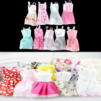 5Pcs Lovely Handmade Fashion Clothes Dress for Barbie Doll Cute Party CostumecA