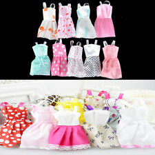 5Pcs Lovely Handmade Fashion Clothes Dress for Barbie Doll Cute Party Costume HF