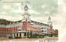 Arkansas, Ar, Hot Springs, Arlington Hotel Udb 1907 Postcard