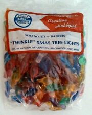 Star Twinkle Medium Lights Pegs Ceramic Christmas Tree Bulbs VINTAGE 25 Per Bag