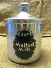 Vintage Kraft Malted Milk Container > Antique Old Dairy Candy Malt Shake 10072