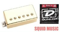 Seymour Duncan SH-6b Duncan Distortion Gold Cover Bridge ( 1 SET OF STRINGS )