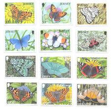 Jersey-Butterflies and Moths 2 sets mnh