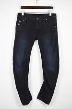 G-STAR RAW ARC 3D SLIM Men's W33/L32 Twisted Dark Blue Zip Jeans 42849-GS