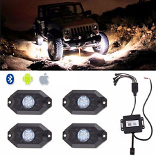 Waterproof Bluetooth Music LED Rock Lights RGB Color Accent Under Car For Chevy
