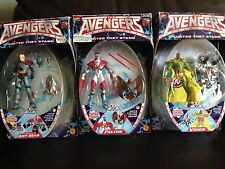 MARVEL COMICS - PRE MARVEL LEGENDS TOY BIZ AVENGERS FIGURES LOT OF 3 SEALED!