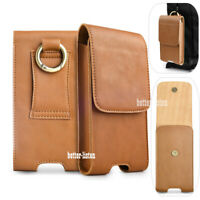 Genuine Leather Case Holster Cover Card Belt Clip Loop for iPhone 11 Pro Max 8+
