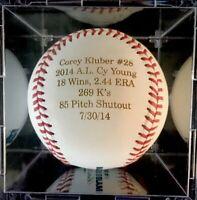 Corey Kluber Cleveland Indians Texas Rangers Autographed Signed Baseball JSA COA