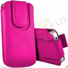 Magnetic Button Flip Pull Tab Leather Pouch Case Cover For Nokia 222 Dual SIM