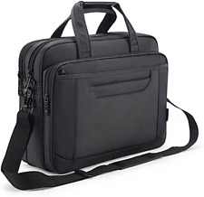 Laptop Briefcase for Men 15.6 Inch Business Bag Women Carry on Black Functional