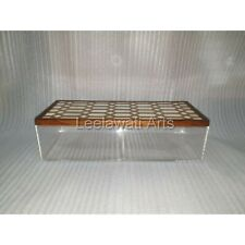 Bone Inlay Hexagon Design Acrylic Storage Box
